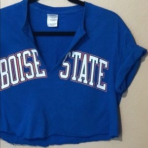Boise state crop Top